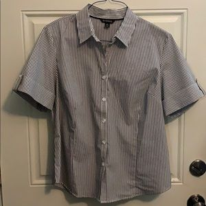 Striped shirt sleeve button up size large